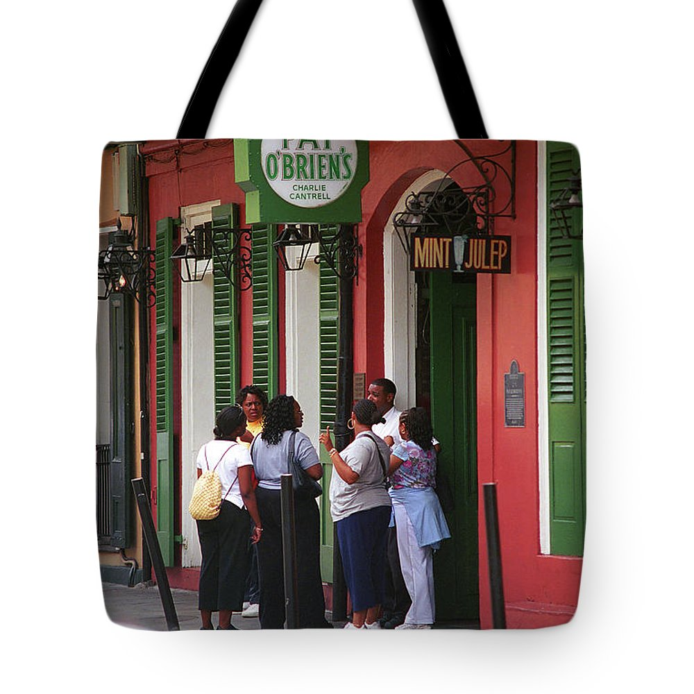 America Tote Bag featuring the photograph New Orleans Bourbon Street 2004 #44 by Frank Romeo