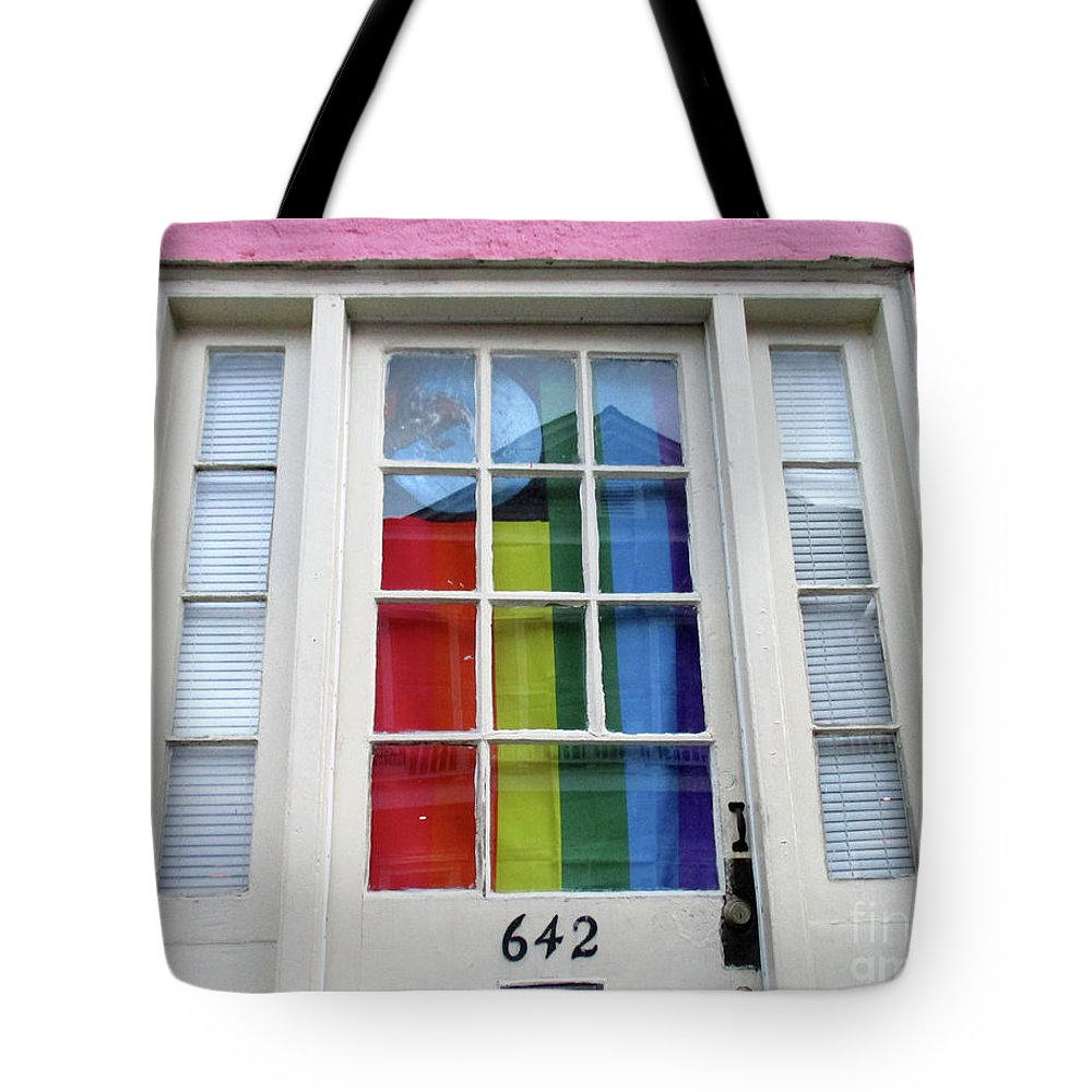 New Orleans Tote Bag featuring the photograph New Orleans Door 10 by Randall Weidner