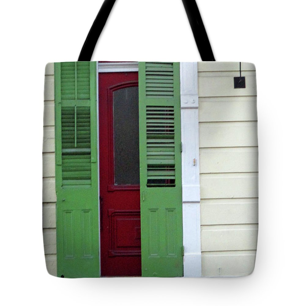 New Orleans Tote Bag featuring the photograph New Orleans Door 11 by Randall Weidner