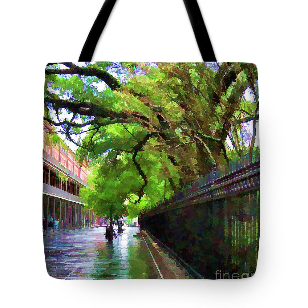 French Quarter Tote Bag featuring the photograph New Orleans French Quarter Paint by Chuck Kuhn