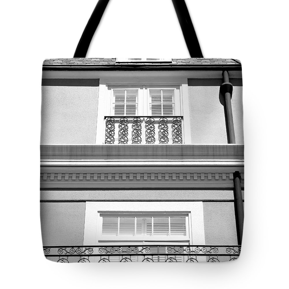 New Orleans Tote Bag featuring the photograph New Orleans Iron Scrollwork by Robert Meyers-Lussier