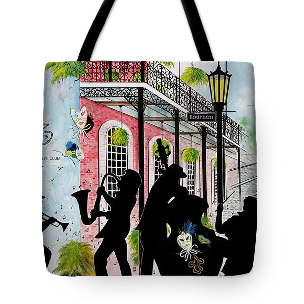 City Tote Bag featuring the painting New Orleans Magic by Don Griffiths