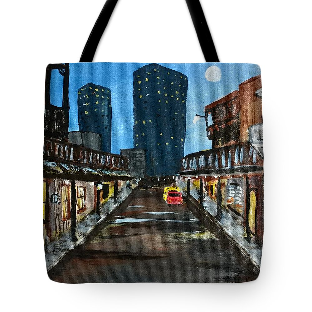 New Orleans Tote Bag featuring the painting New Orleans by Sheryl Galinski