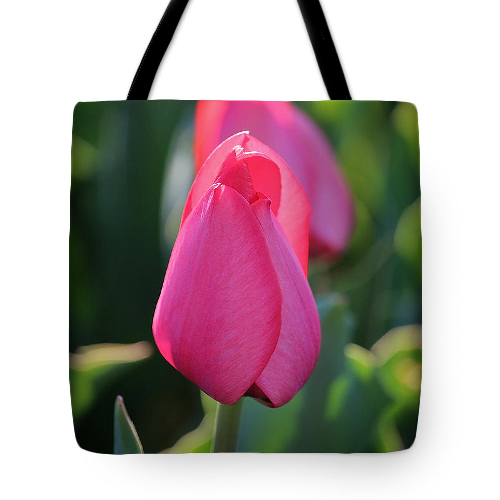 Flower Tote Bag featuring the photograph New Season by Susan Herber