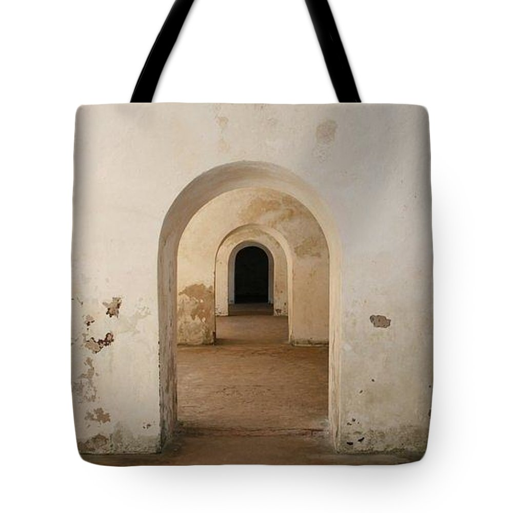 Landscape Tote Bag featuring the photograph Arcos by Maritza Ortiz