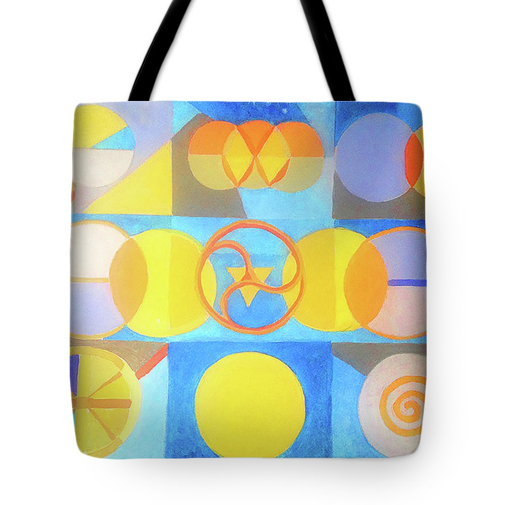 Circles Tote Bag featuring the painting Geometrica 1 by Suzanne Cerny