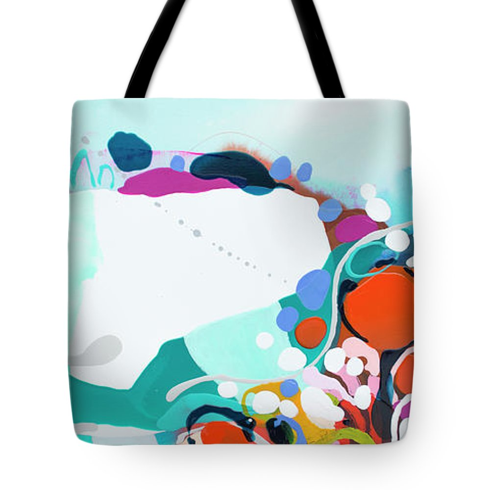 Abstract Tote Bag featuring the painting New Ways by Claire Desjardins