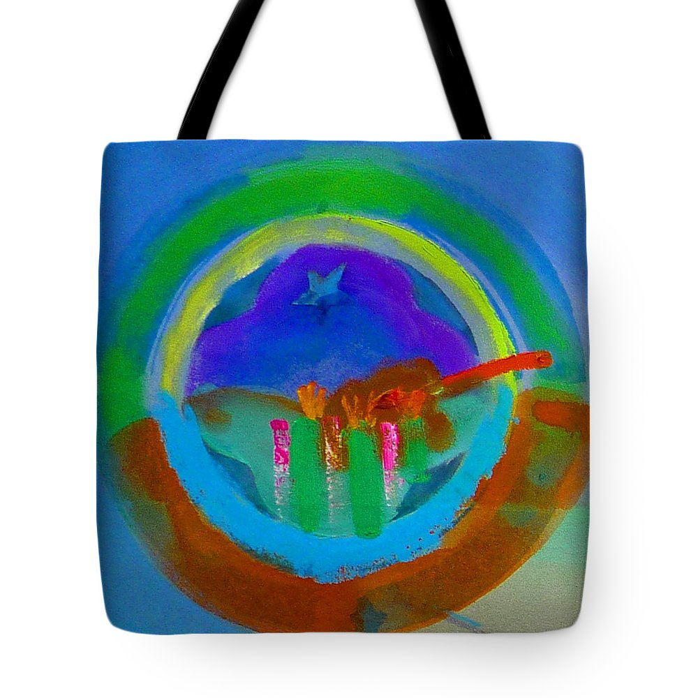 Love Tote Bag featuring the painting New World Spring by Charles Stuart