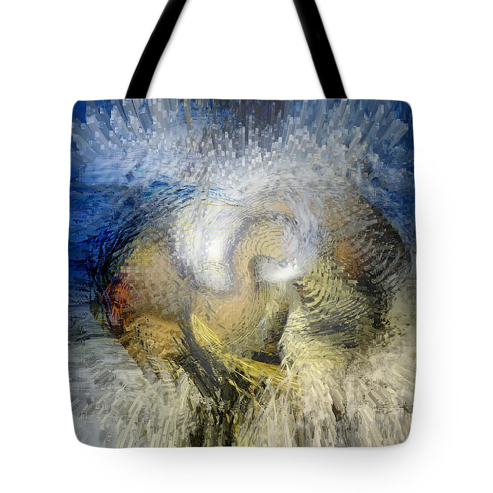 Space Art Tote Bag featuring the digital art New Worlds by Linda Sannuti