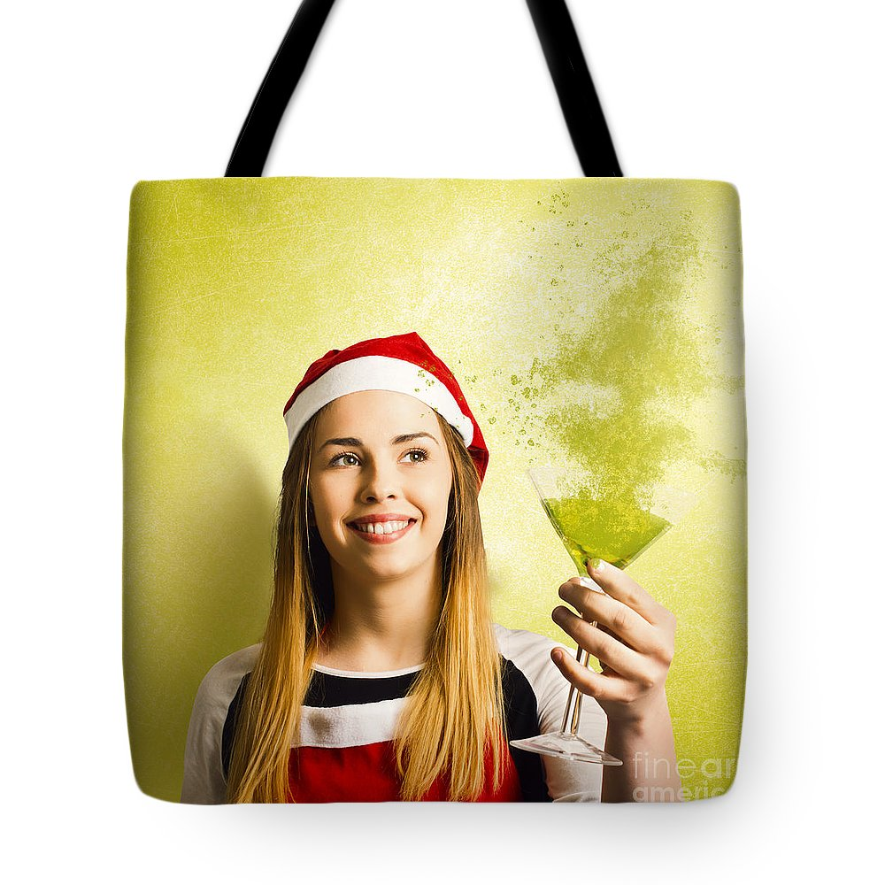 Christmas Tote Bag featuring the photograph New Year Christmas Party by Jorgo Photography - Wall Art Gallery