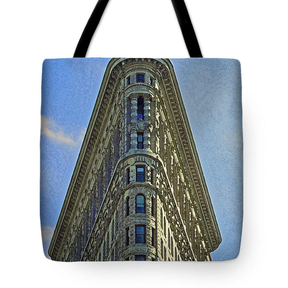 Architecture Tote Bag featuring the digital art New York Architecture Render by Dale Chapel