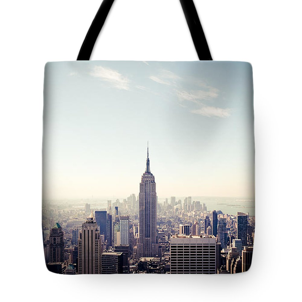 New York City - Empire State Building Tote Bag featuring the photograph New York City - Empire State Building Panorama by Thomas Richter