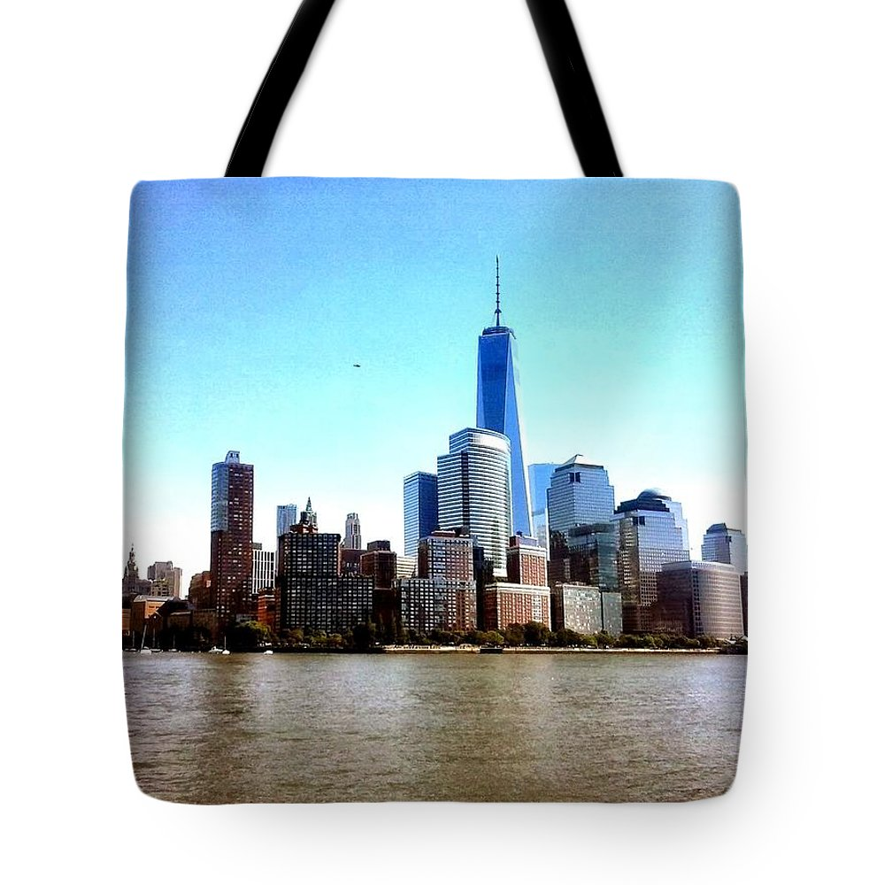 New York Tote Bag featuring the photograph New York City Cityscape by Fabio Tedeschi