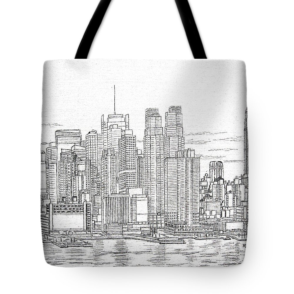 New York City Manhattan Skyline Tote Bag For Sale By Mike Rabe