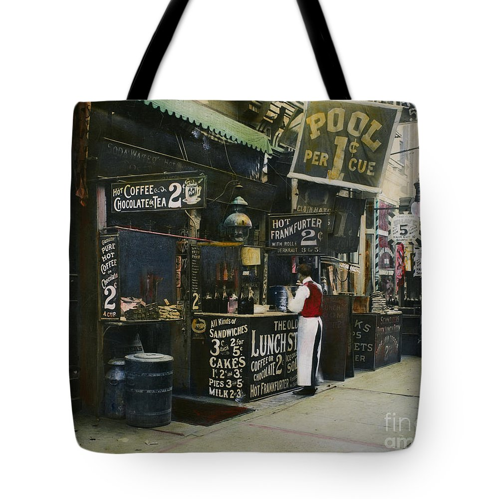 1905 Tote Bag featuring the photograph New York City Restaurant by Granger
