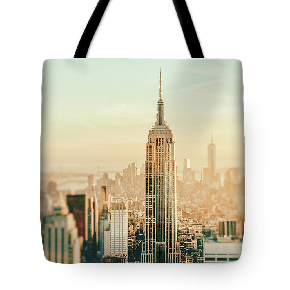 Nyc Tote Bag featuring the photograph New York City - Skyline Dream by Vivienne Gucwa