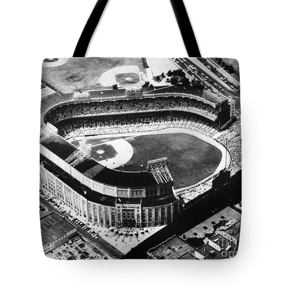 1973 Tote Bag featuring the photograph New York: Yankee Stadium by Granger