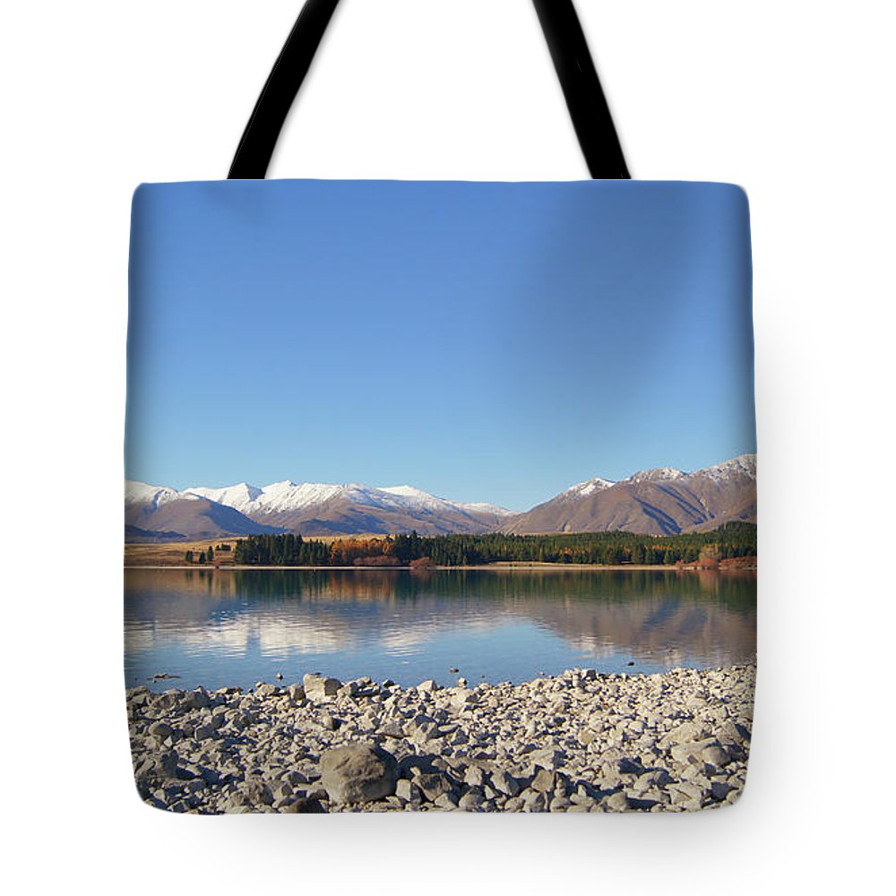 Nature Tote Bag featuring the photograph New Zealand Lake by Pei Qin Chua