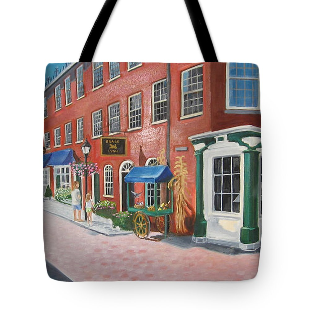Mcgrath Tote Bag featuring the painting Newburyport Ma by Leslie Alfred McGrath