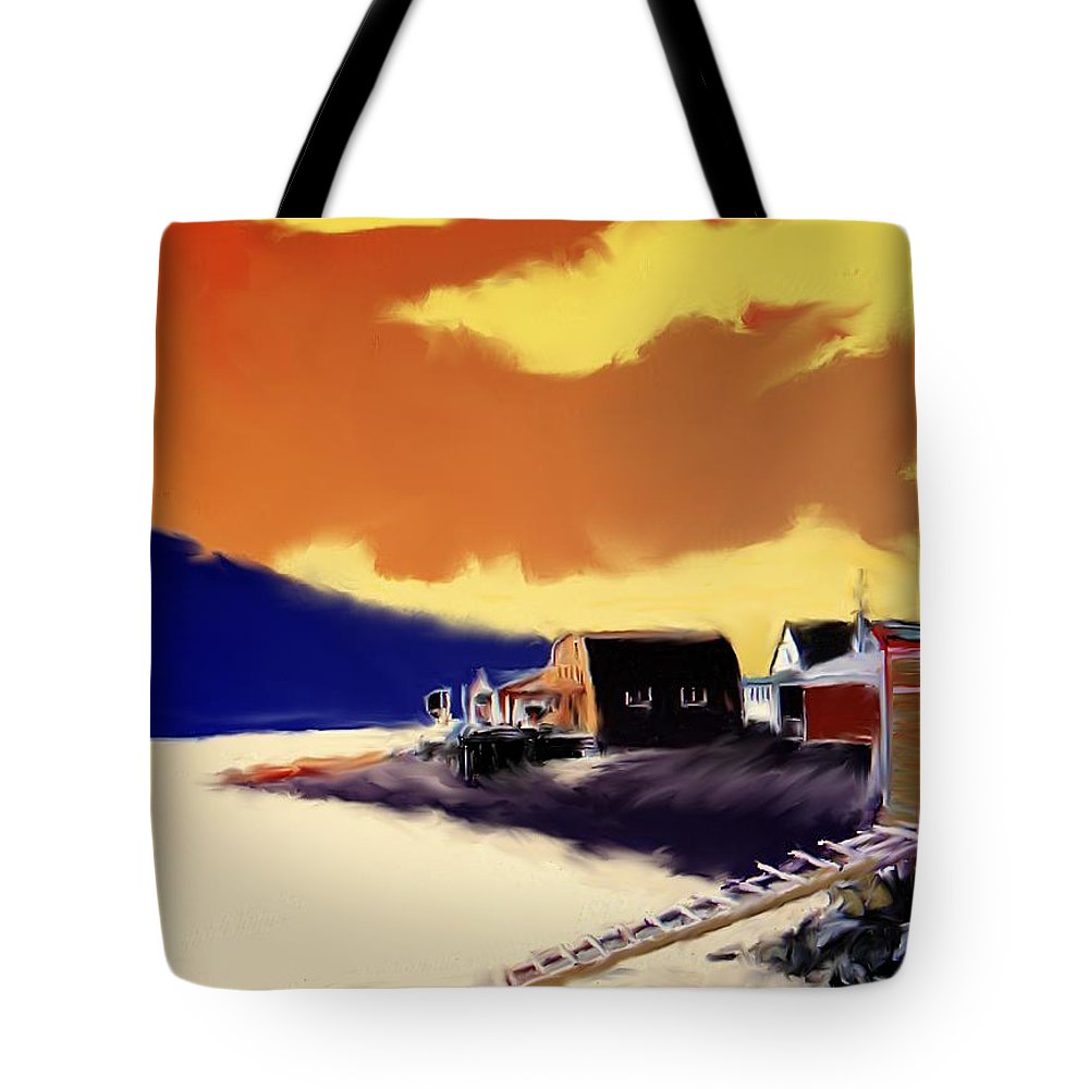 Newfoundland Tote Bag featuring the photograph Newfoundland Fishing Shacks by Ian MacDonald
