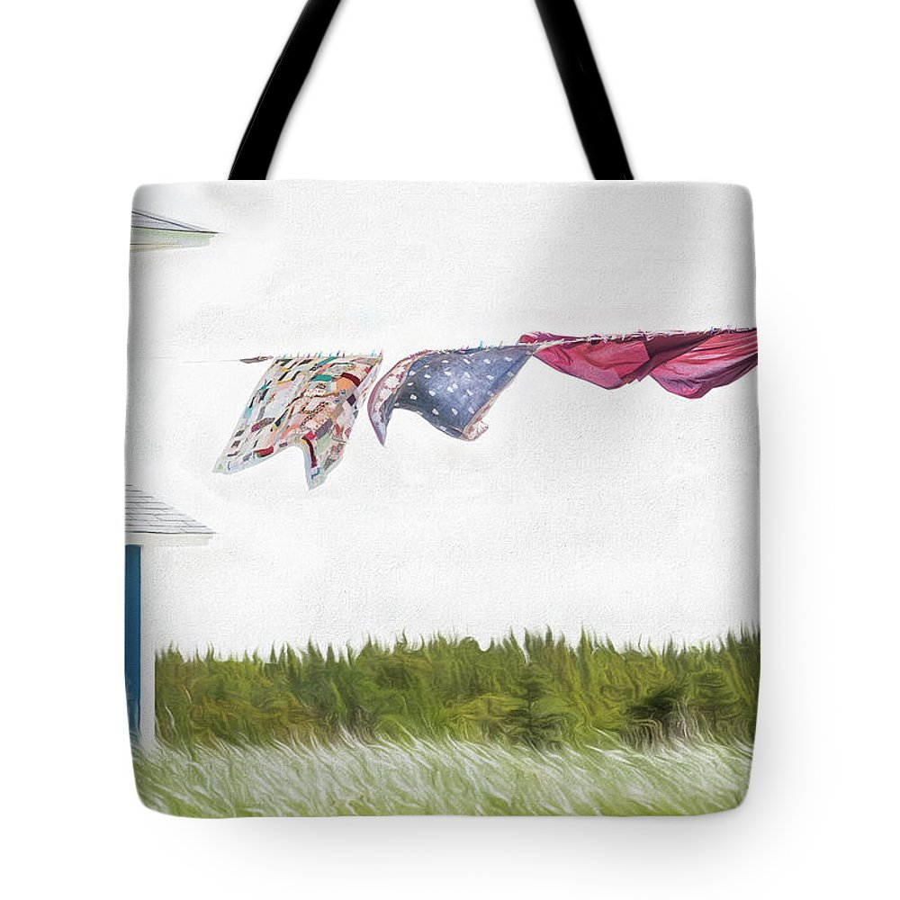 Musgrave Harbour Tote Bag featuring the photograph Newfoundland Quilts by Glenn Springer