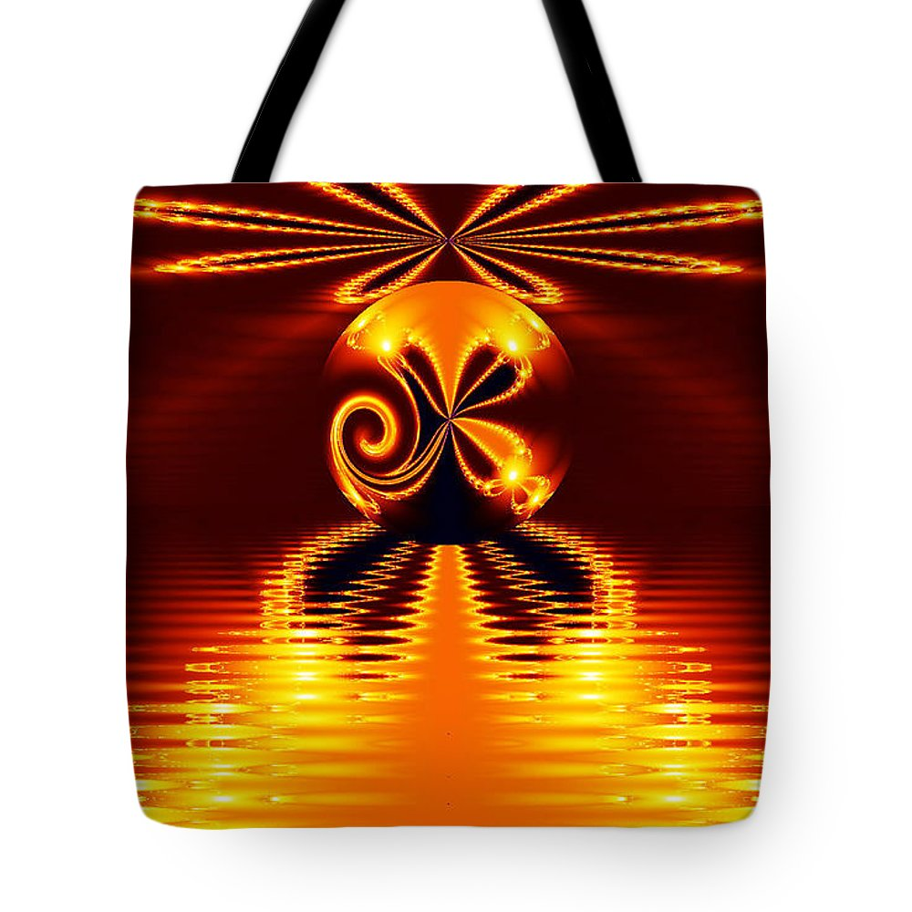 Clay Tote Bag featuring the digital art Newton World by Clayton Bruster