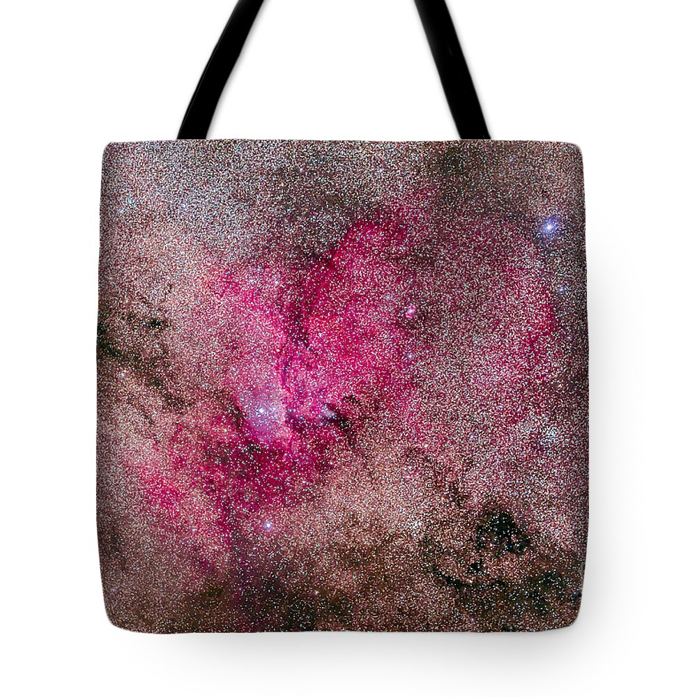 Ara Tote Bag featuring the photograph Ngc 6193 Nebulosity In Ara With Several by Alan Dyer