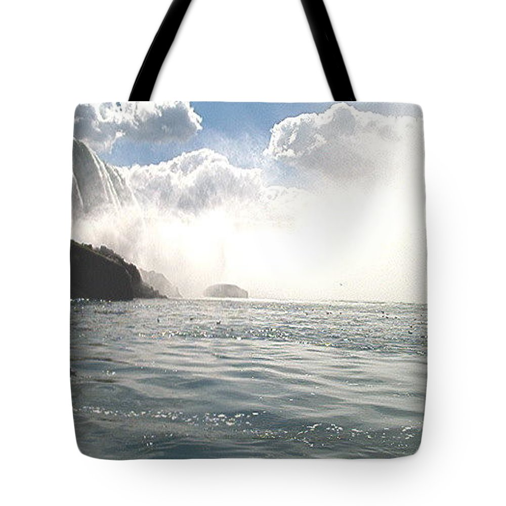 Landscape Tote Bag featuring the photograph Niagara Falls by Debbie Levene