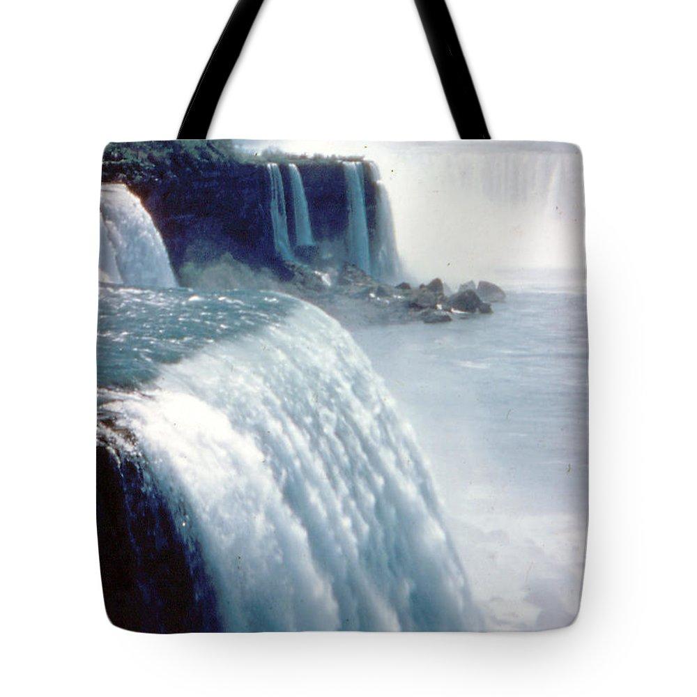 Niagara Falls Tote Bag featuring the photograph Niagara Falls New York State by Ron Swonger