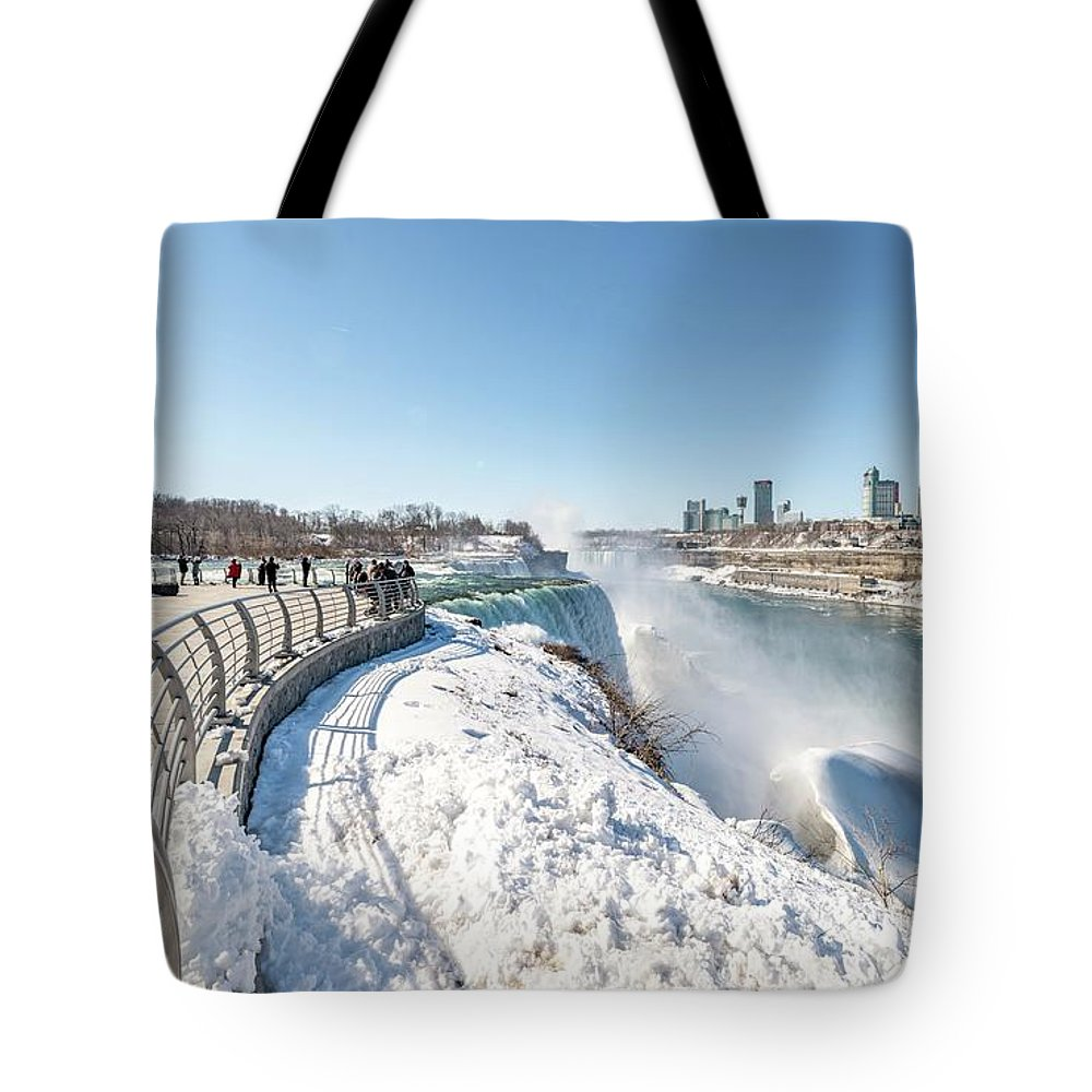 Usa Tote Bag featuring the photograph Niagara Falls Ny by Framing Places