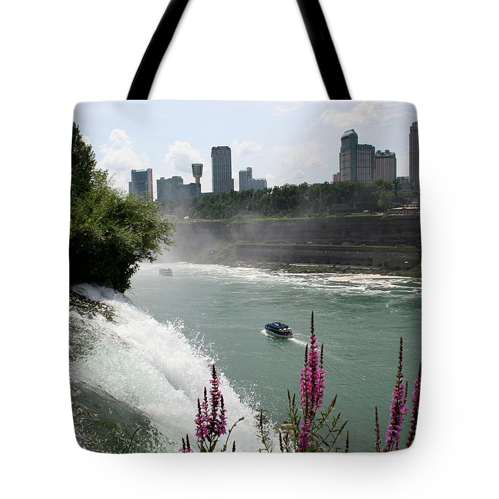 Niagara Mist Tote Bag featuring the photograph NIagara Mist by Dylan Punke