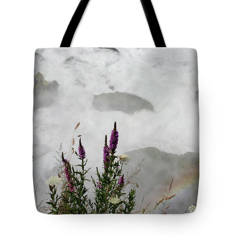 Niagara Mist Revelers Tote Bag featuring the photograph Niagara Mist Revelers by Dylan Punke