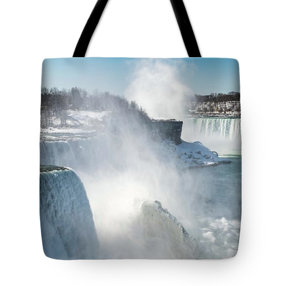Usa Tote Bag featuring the photograph Niagara Up Close by Framing Places