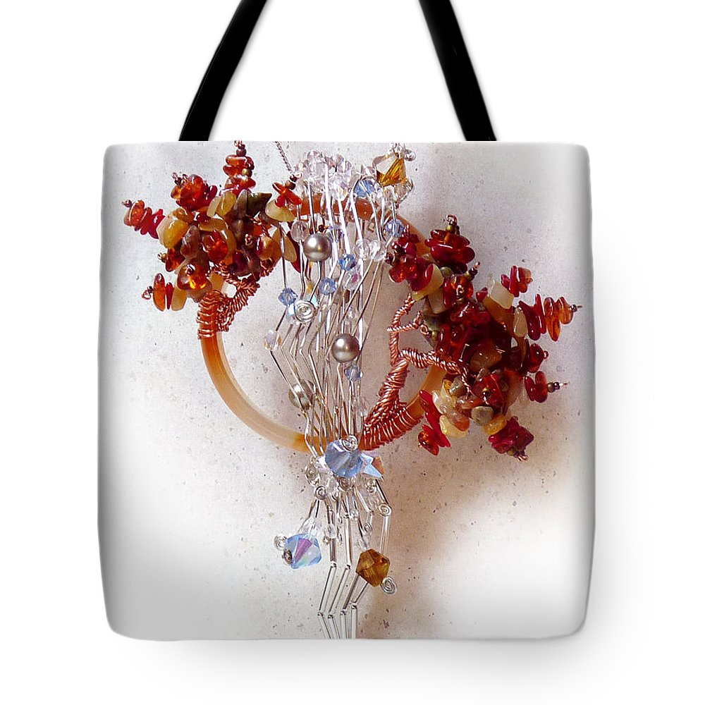 Sterling Silver Tote Bag featuring the sculpture Niagra Fall by Rhonda Chase