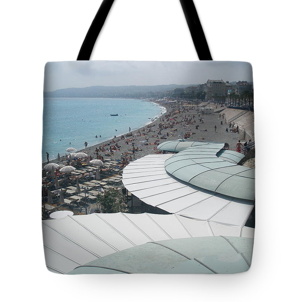 Mediterranean Tote Bag featuring the photograph Nice By The Sea. by Micki Hobbs