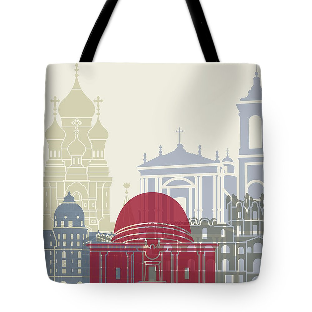 Europe Tote Bag featuring the painting Nice Skyline Poster by Pablo Romero