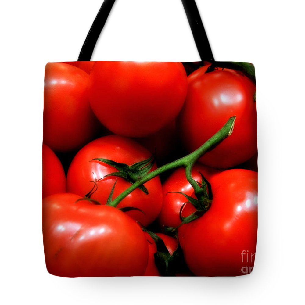 Food Tote Bag featuring the photograph Nice Tomatoes Baby by RC DeWinter