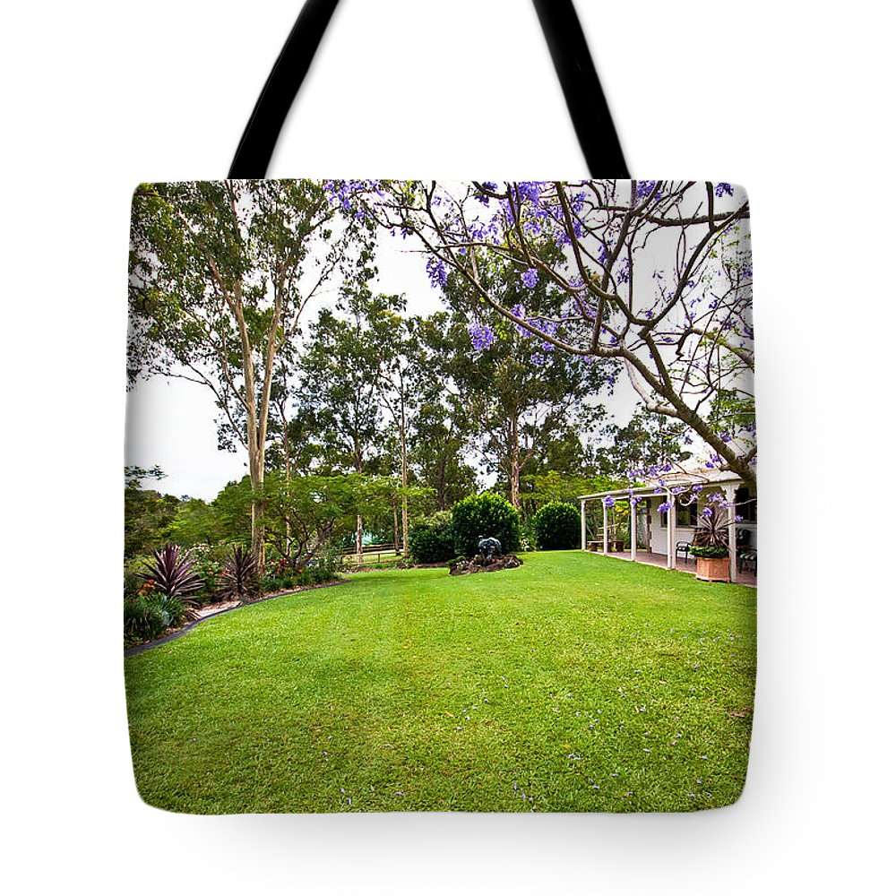Back Tote Bag featuring the photograph Nice Yard by Darren Burton