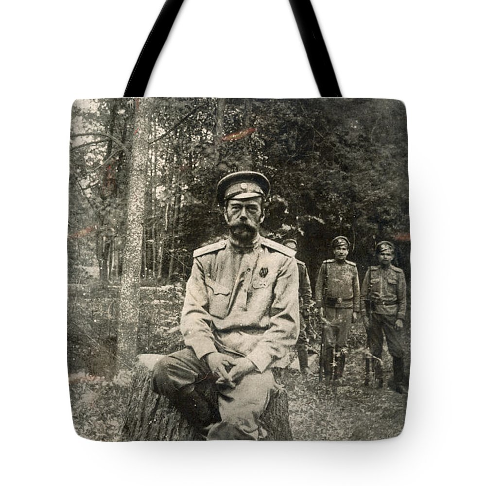 1917 Tote Bag featuring the photograph Nicholas II (1868-1918) by Granger