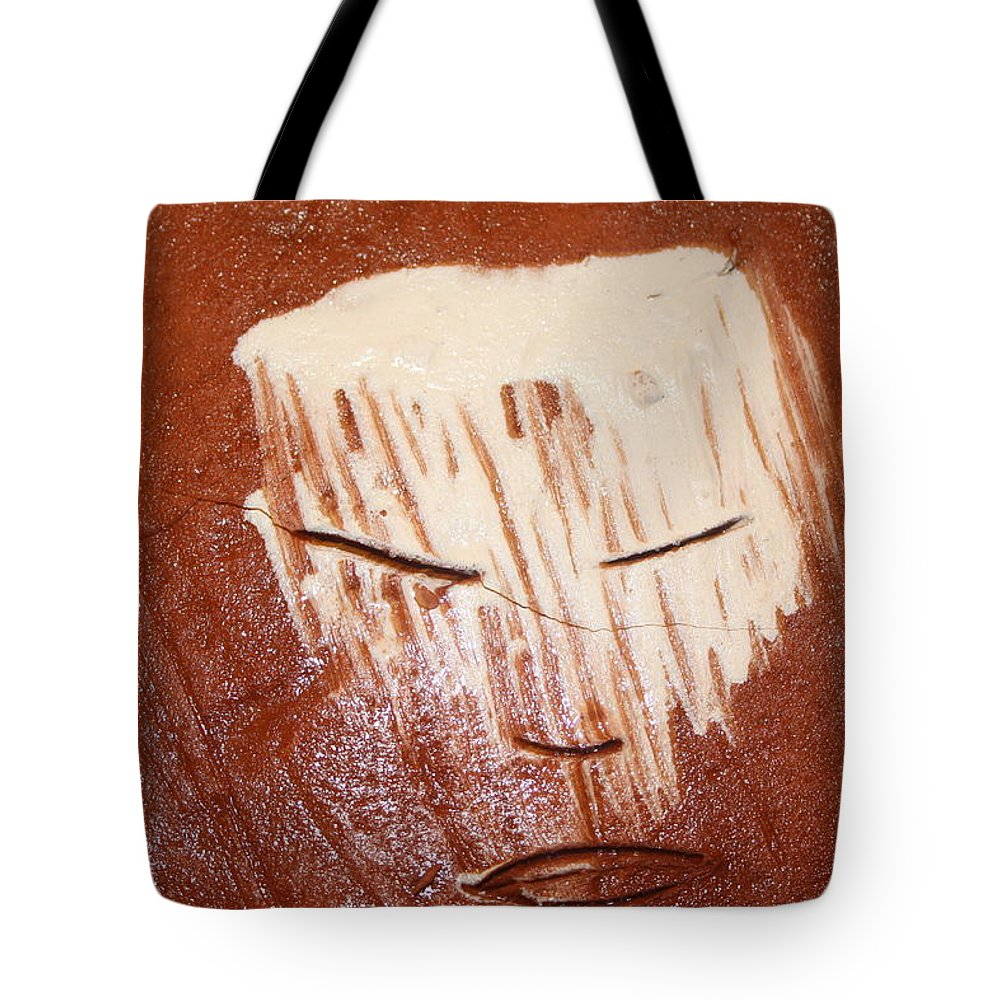 Jesus Tote Bag featuring the ceramic art Night - Tile by Gloria Ssali