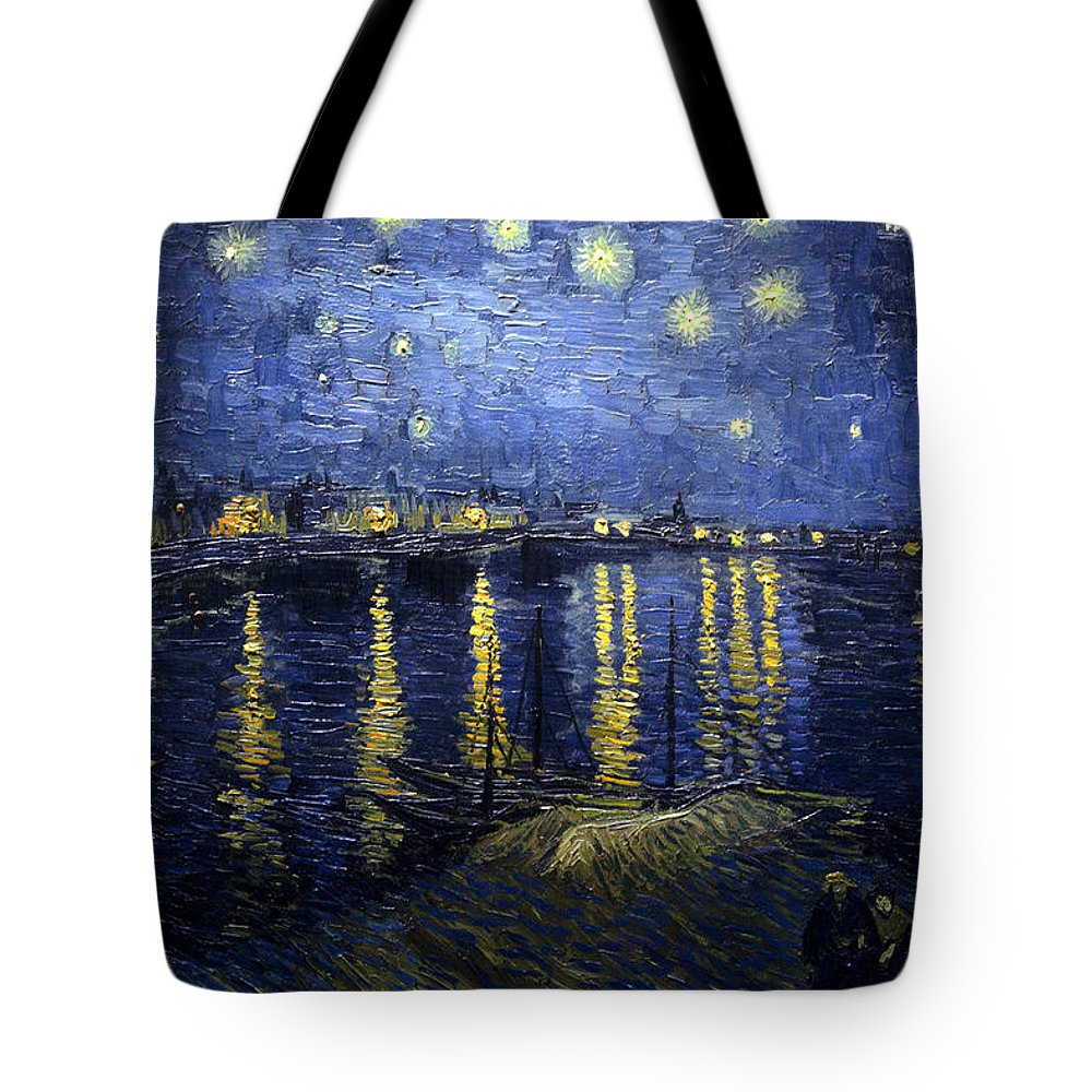 Impressionism Tote Bag featuring the painting Night At The Lake by Sumit Mehndiratta