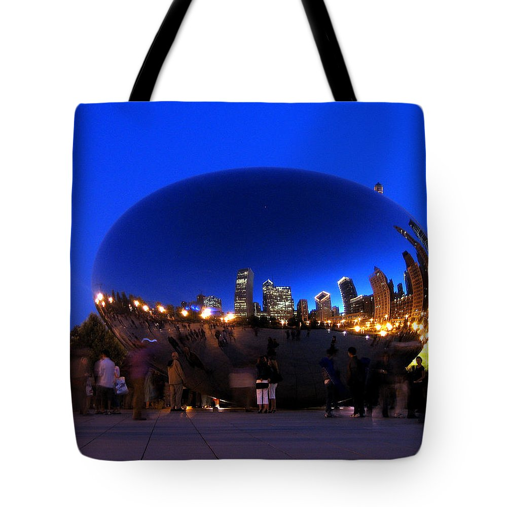Night Tote Bag featuring the photograph Night Bean by Laura Kinker