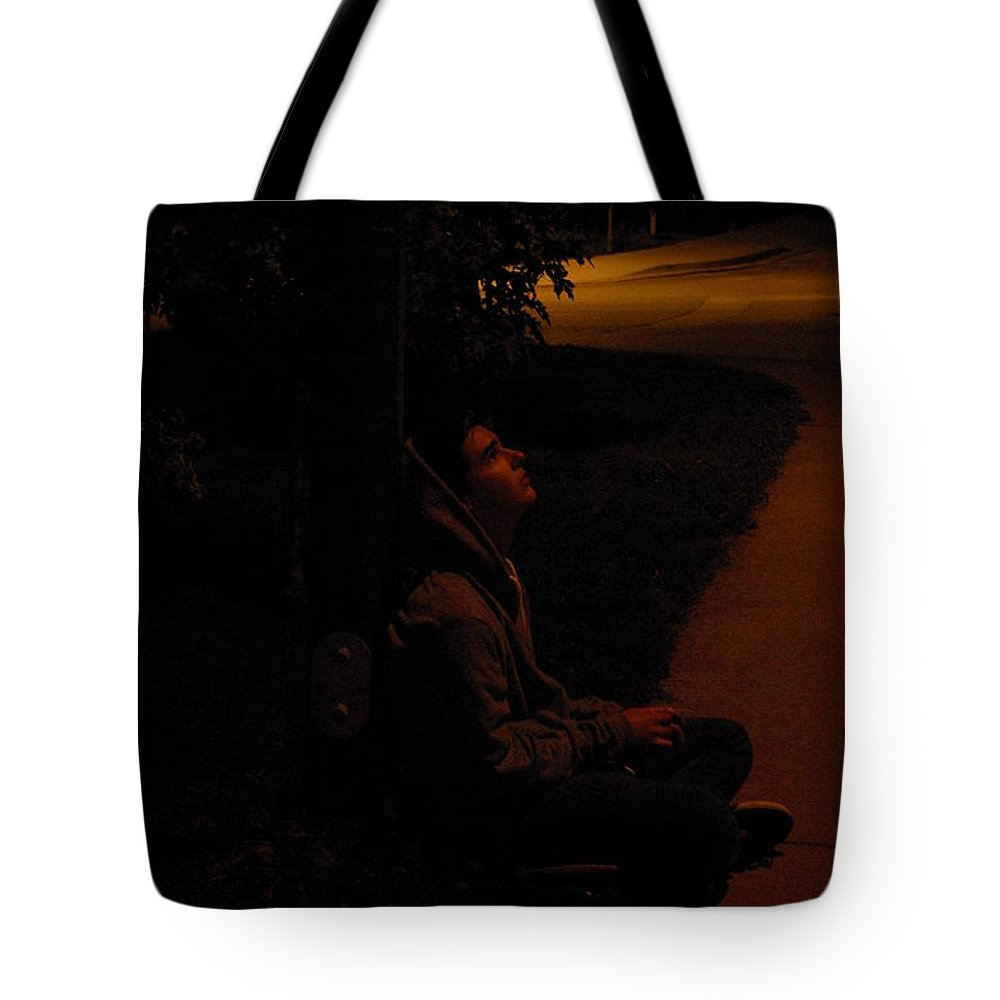 Night Tote Bag featuring the photograph Night Boy by Cindy Johnston