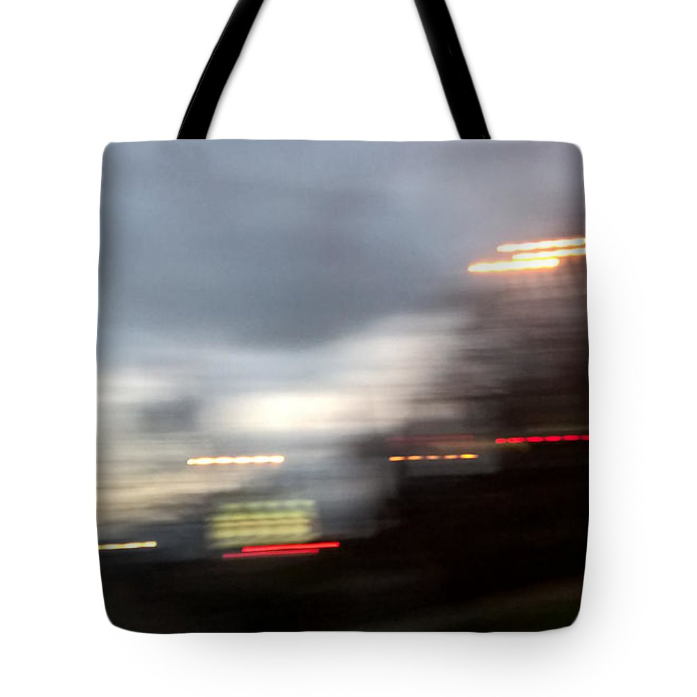 Night Tote Bag featuring the photograph Night Cityscape by Radka Zimova King