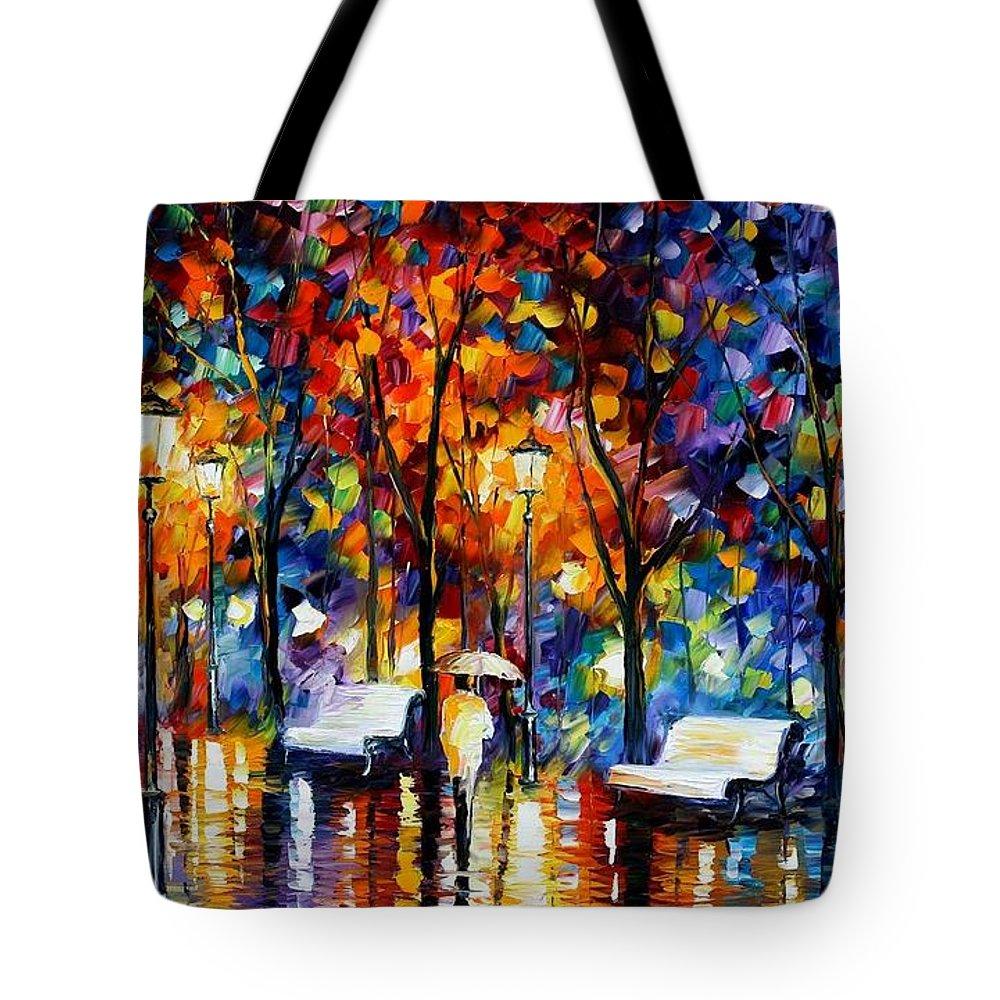 Afremov Tote Bag featuring the painting Night Copenhagen by Leonid Afremov