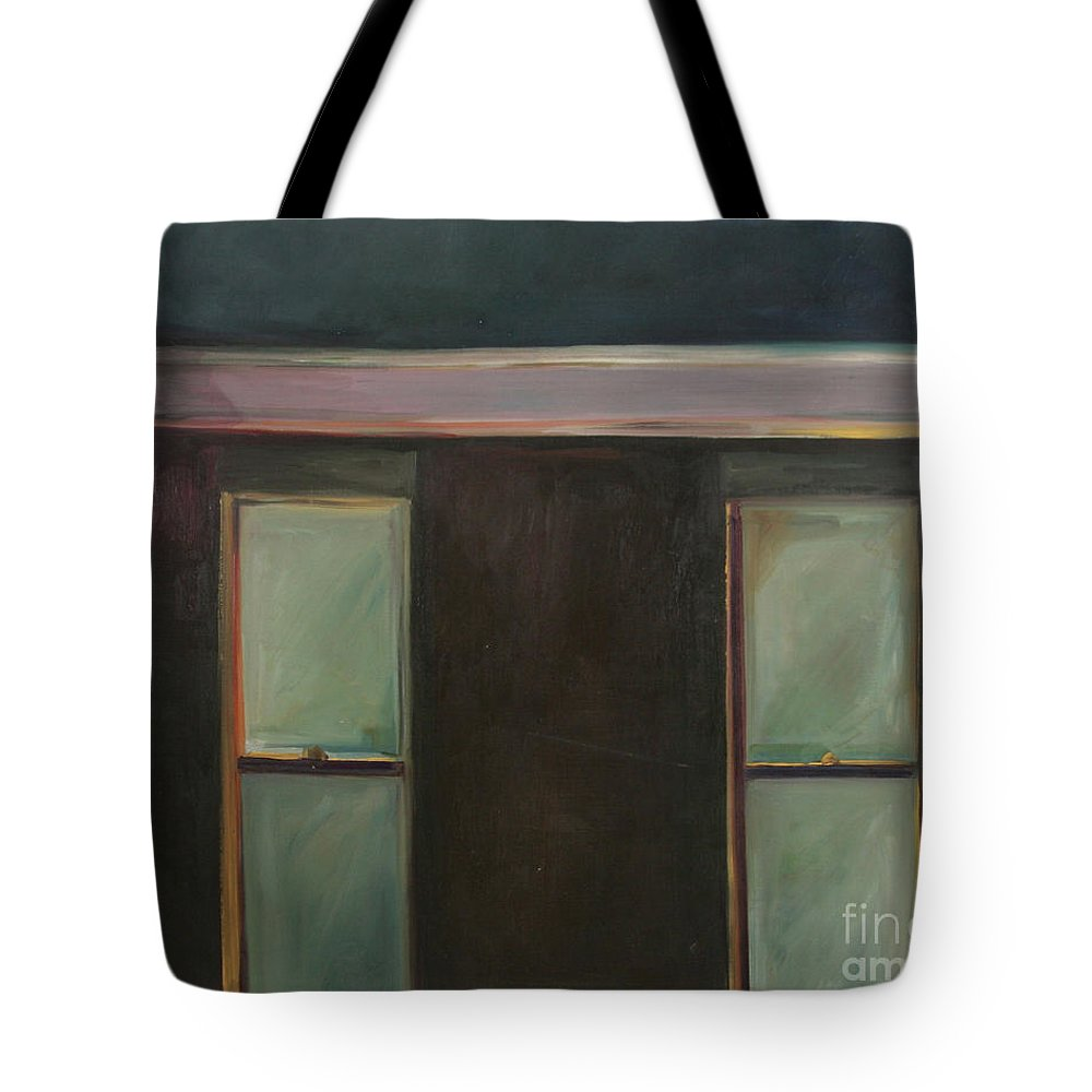 Oil Tote Bag featuring the painting Night by Daun Soden-Greene