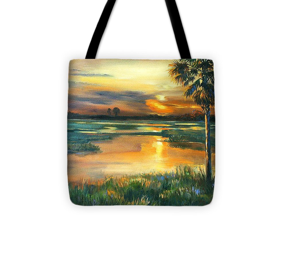 Painting Tote Bag featuring the painting Night Descends by Dianna Willman