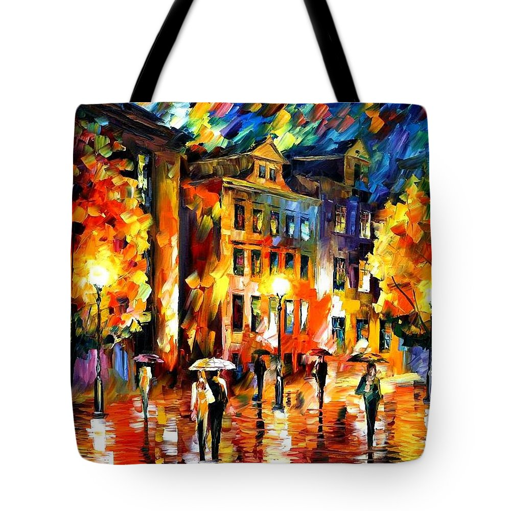 Afremov Tote Bag featuring the painting Night Enigma by Leonid Afremov