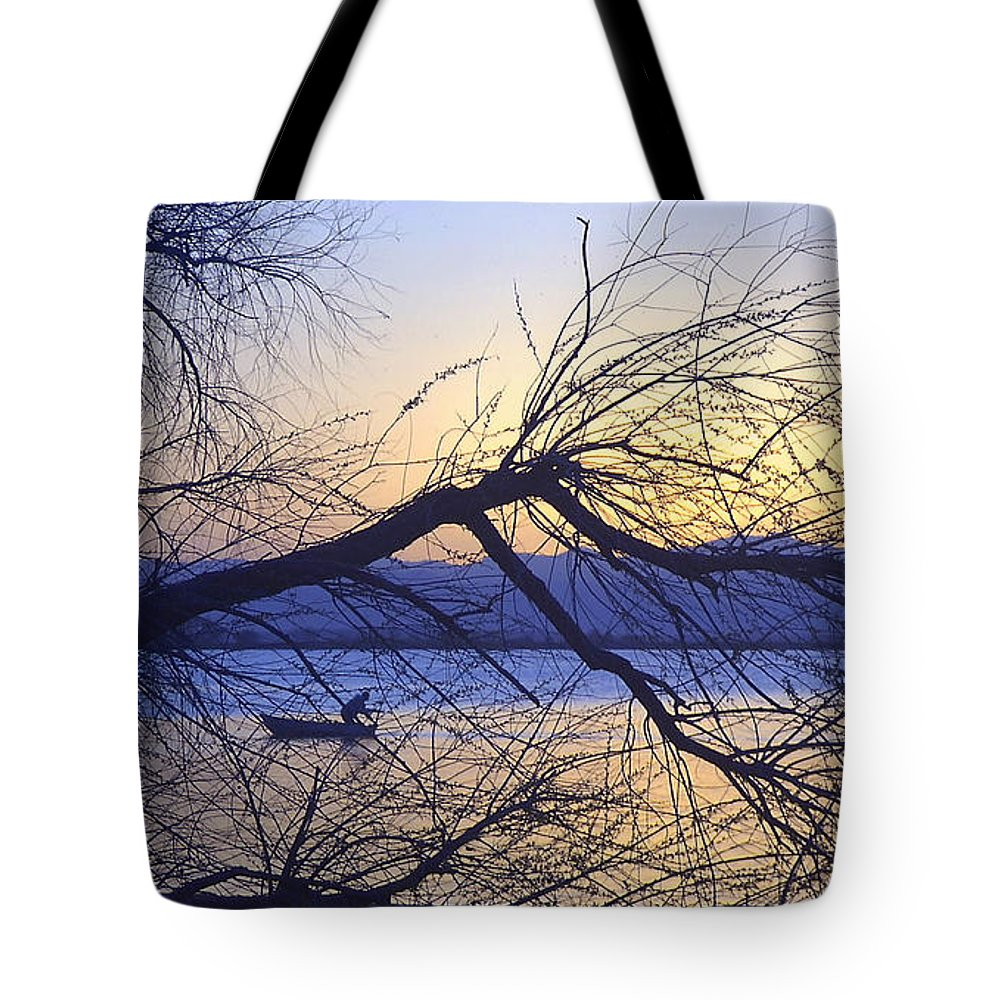 Barr Lake Tote Bag featuring the photograph Night Fishing In Barr Lake Colorado by Merja Waters