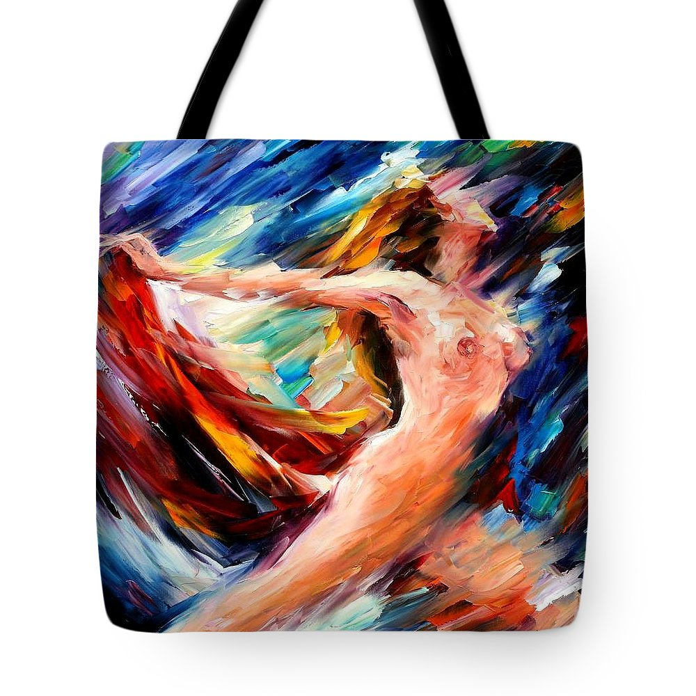 Nude Tote Bag featuring the painting Night Flight by Leonid Afremov